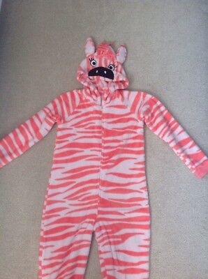 Girls M&S Zebra All In One / sleepsuit / Jumpsuit In Size 9-10 Years
