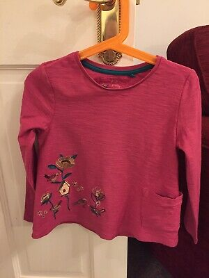 Girl's Tu long-sleeved cotton tunic tops x 3 bird design + 2 leggings 5-6 years