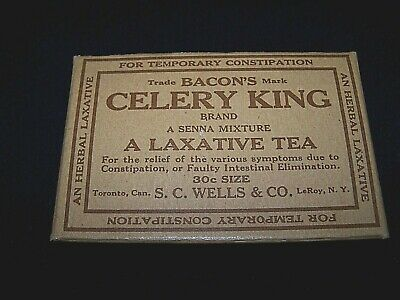 LeRoy NY Vintage 1900s Quack Medicine Bacon's Celery King Remedy Box