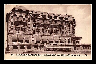 Dr Jim Stamps Le Grand Hotel Luchon France Topical View Postcard