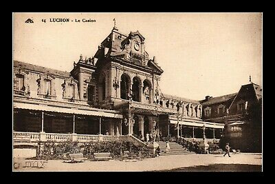 Dr Jim Stamps Casino Luchon France Topical View Postcard