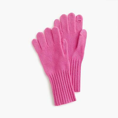 J Crew K2551 Woman's SOLD-OUT Pink 100% Cashmere Texting Gloves NWT One Size