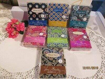 """Vera Bradley """"STICK TO IT"""" NOTEPAD~PICK YOUR PATTERN~New in Pkg~RARE~RETIRED~NWT"""