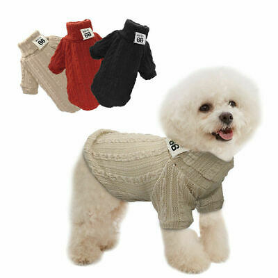 Warm Knitted Dog Sweater Chihuahua Clothes Winter Knitwear Pet Puppy Jumper
