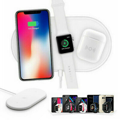 3 in1 QI Wireless Charger Charging Station Dock for Apple Watch / iPhone/AirPods