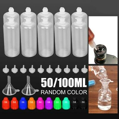 10X 50ml 100ml Empty Plastic Squeezable Dropper Bottles Eye Care Liquid Droppers