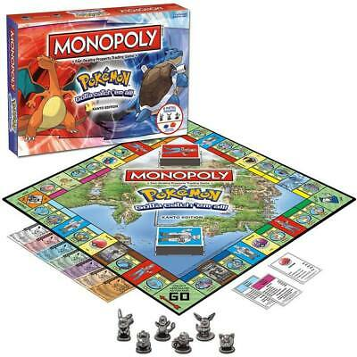 For Pokemon Go MONOPOLY Perfect Family Party Game Card Board Game Toys Xmas Gift