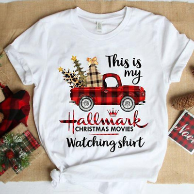 This Is My Hallmark Christmas Movie Watching Shirt Red Plaid Car Tshirt NEW