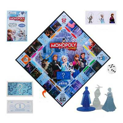 Monopoly Frozen II Board Game -Family Fun Christmas Gift Party Birthday Group UK