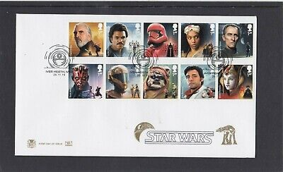 GB 2019 Star Wars Stuart FDC First Day Cover Iver Heath special pmk