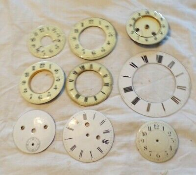 Mixed Collection Of Antique Enamel Clock Faces/Chapter Rings