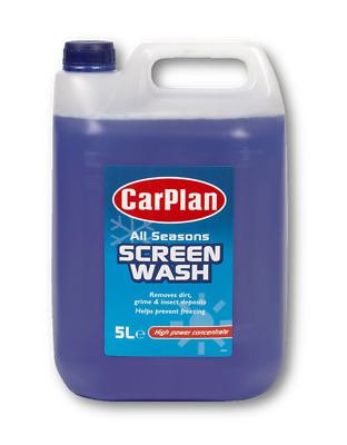 5L Concentrated All Seasons Screen Wash Carplan Windscreen High Power