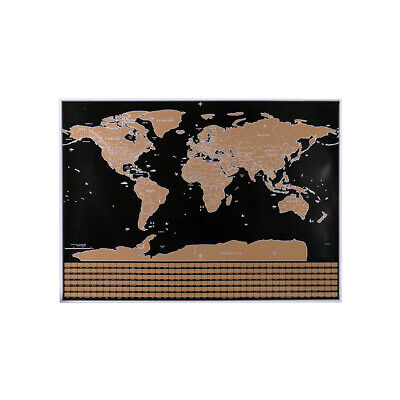 Scratch Off Map Interactive Vacation Poster World Travel Maps Poster C1B8