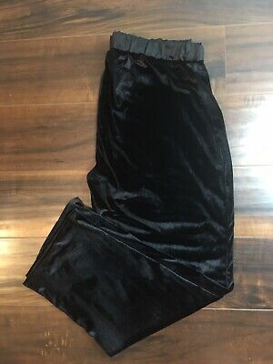 TAHARI SLEEPWEAR PANTS BLACK VALORE Pajama Bottoms Size XL Satin Waistband EUC