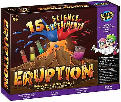 Learn & Climb Erupting Volcano Science Kit for Kids- 15 Experiments! NEW 2019