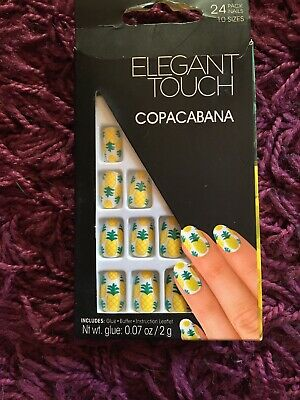 Elegant Touch 24 Full Cover False Nail Pineapple Copacabana