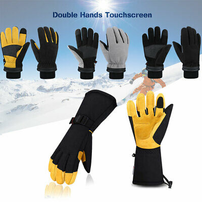 Ski Winter Gloves Thermal Fleece Warm Work Windproof Waterproof Women Men Gift