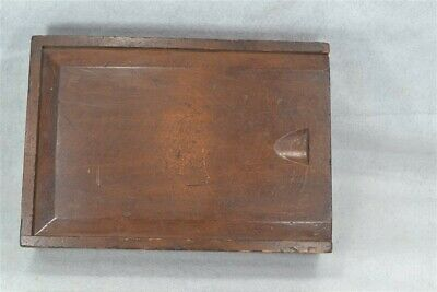antique candle box slide top 12x8x3 till for rush hand made pine  original 1800