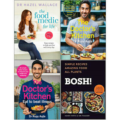 Food Medic for Life, Doctor's Kitchen, Eat to Beat Illness, BOSH 4 Books Set NEW