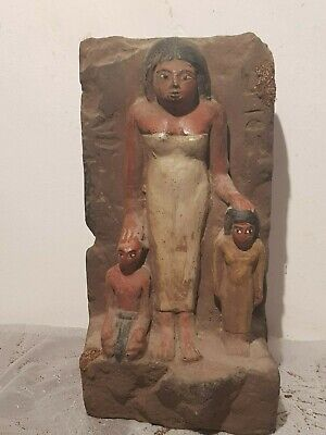 Rare Antique Ancient Egyptian Statue Queen Tiye Hr Children Akhenaten1398-1355BC