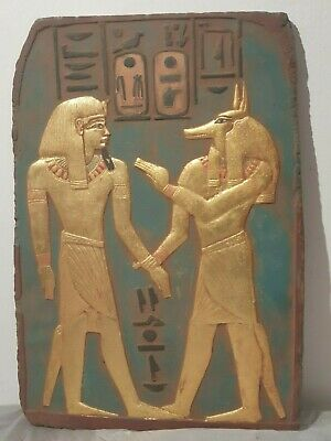 Rare Antique Ancient Egyptian Stela God Anubis purify king Amenhotep1525–1504 BC