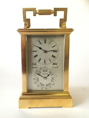 Rare Calendar Carriage Clock, Mantle Clock