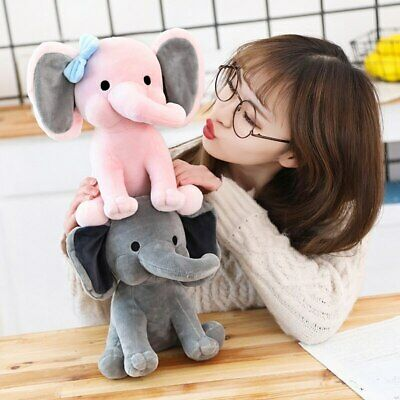 Cute elephant for Kids new Toys Plush Stuffed Animal soft doll pink gray 25 cm