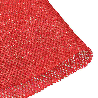 Speaker Grill Cloth 1x1.45M Polyester Fiber Stereo Mesh Fabric Red