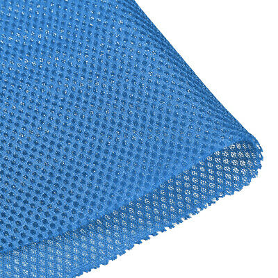Speaker Grill Cloth 1x1.45M Polyester Fiber Stereo Mesh Fabric Blue