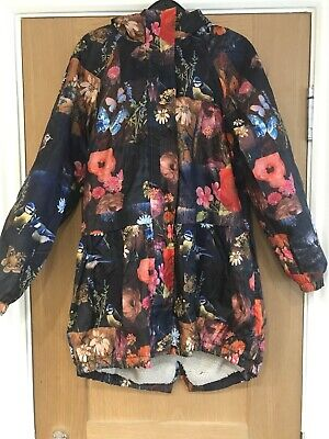 Girls Next Floral Lined Winter Coat Age 9-10 Years