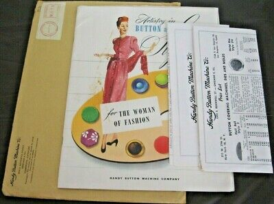 VINTAGE~ARTISTRY IN BUTTON & BUCKLE STYLES for the Woman of Fashion~1953~CATALOG