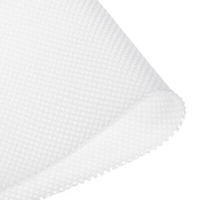 Speaker Grill Cloth 1x1.45M Polyester Fiber Stereo Mesh Fabric White