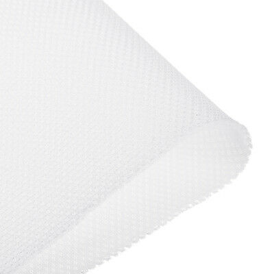Speaker Grill Cloth 0.5x1.45M Polyester Fiber Stereo Mesh Fabric White