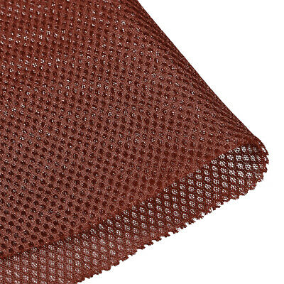 Speaker Grill Cloth 1x1.45M Polyester Fiber Stereo Mesh Fabric Red-brown