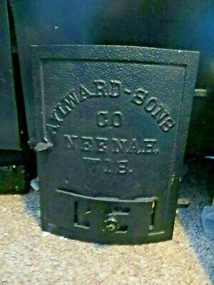 Aylward-Sons Co. Neenah Wis. Cast Iron Stove Plate Advertising Door Sign
