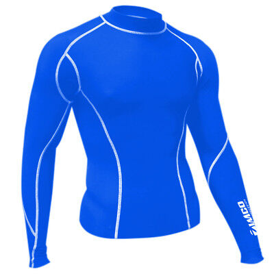 Zimco Winter Compression Cycling Jersey Baselayers Thermal Under Top Shirts Red