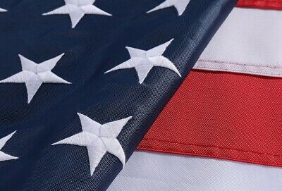 UNITED STATES FLAGS American US Flag Heavy Duty Nylon Embroidered Stars Sewn USA