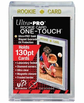 Ultra Pro One Touch Magnetic Card Holder Gold Rookie 130pt Thick Jersey w/ UV