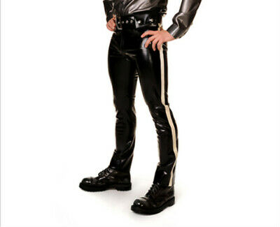 Latex Rubber Gummi fashion trousers pants Ganzanzug Latexanzug Größe 0.4MM S-XXL