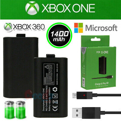 1400mAh Rechargeable Li-ion Battery Pack & Charge Kit for Microsoft Xbox One
