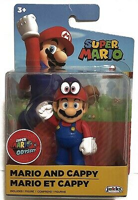 "Nintendo Mario and Cappy Super Mario Odyssey 2.5"" Action Figure New! (Genuine)"