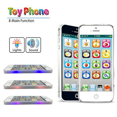 Kids Simulated Smart Cell Phone Educational Music Toy USB Touch Screen Xmas Gift