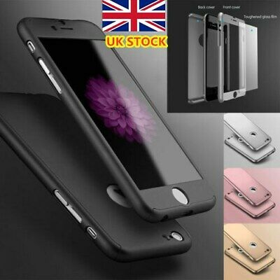 For iPhone 11 6s 7 8 5s Plus XR XS Case Shockproof360 Bumper Hybrid Phone Cover-