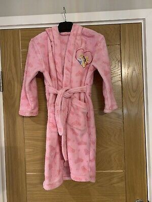 Girls Pink Disney Princess Hooded Dressing Gown - Ages 6-8 Years