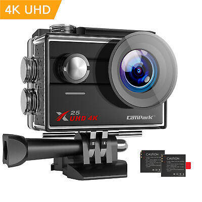 Campark Action Camera 4K Ultra HD Waterproof 30M WiFi Sports Cam Video Camcorder