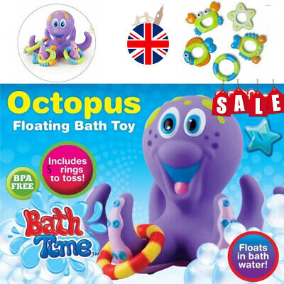 Bath Toy Baby Boy Girl Kids Floating Octopus Infant Toddlers gift shower toy UK