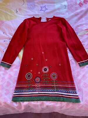 Girls Marks And Spencer Autograph Red Dress Age 6-7 Years