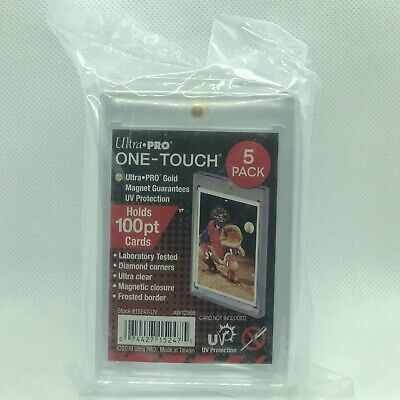 (5) Ultra Pro One Touch Magnetic Card Holder 100pt With UV Protection Thick Card
