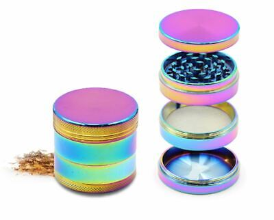 4 Layer Tobacco Grinder Smoke Zinc Alloy Herb Spice Crusher Rainbow Color Design