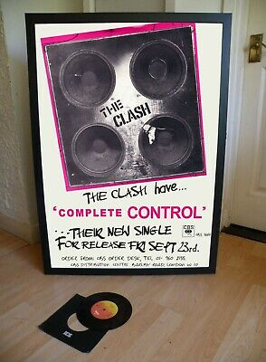 The Clash Complete Control Promotional Poster Lyric Sheet,Sex Pistols,Damned
